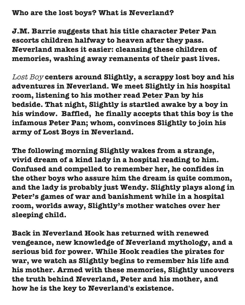 lost boy synopsis website